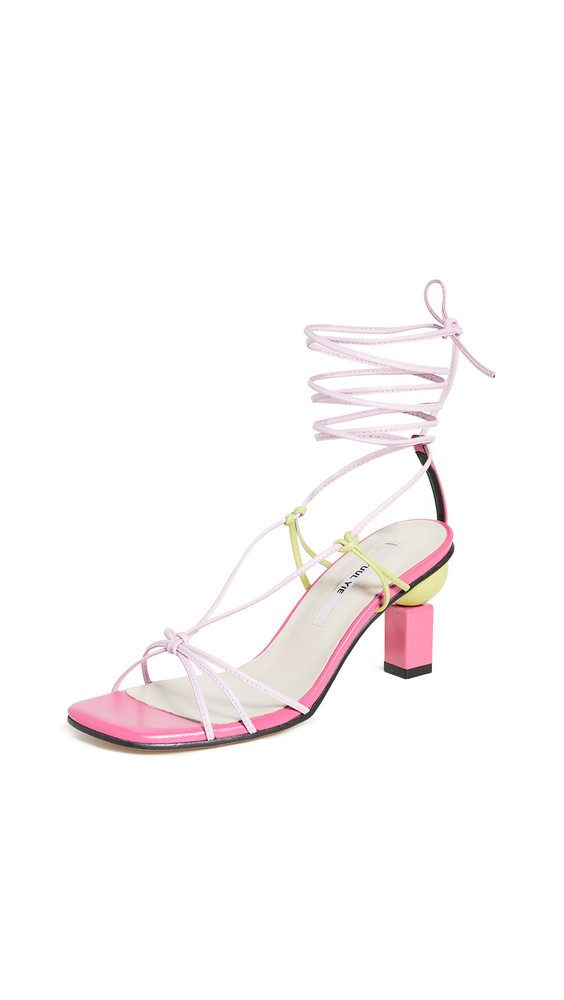 Yuul Yie Trophy Lace-Up Sandals in pink