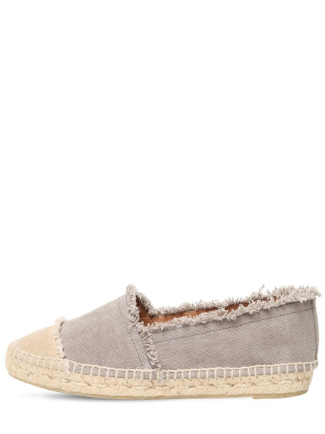 CASTAÑER 20mm Kampala Cotton Canvas Espadrilles in grey