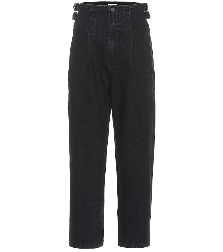 COLOVOS High-rise straight jeans in black