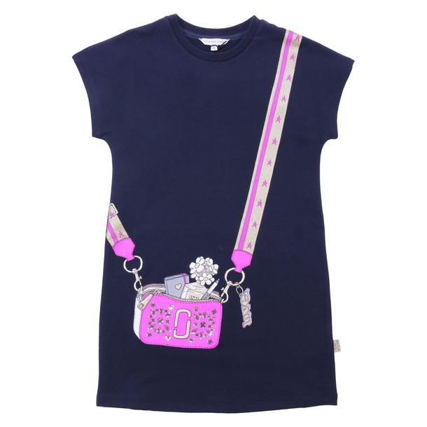 Little Marc Jacobs Deep Blue Cotton Dress
