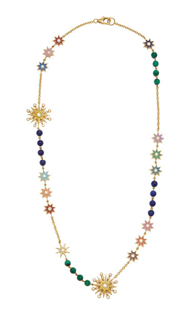 Colette Jewelry Portia 18K Gold Enamel and Diamond Necklace in multi