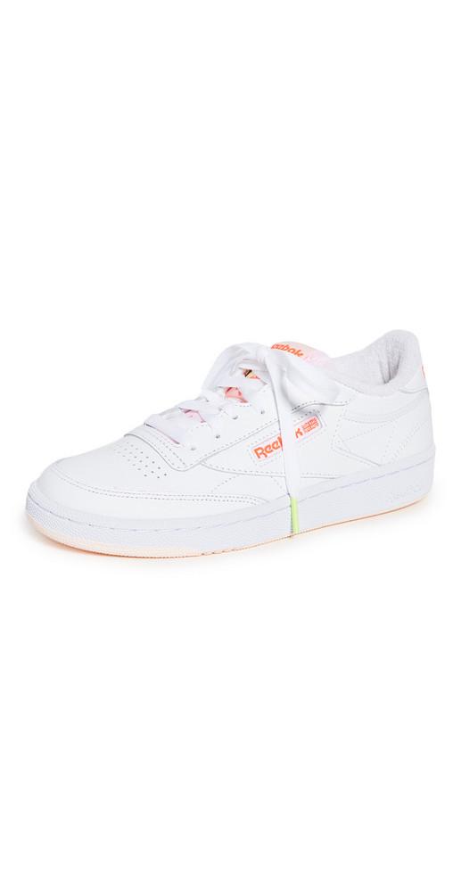 Reebok Club C 85 Sneakers in orange / pink / white