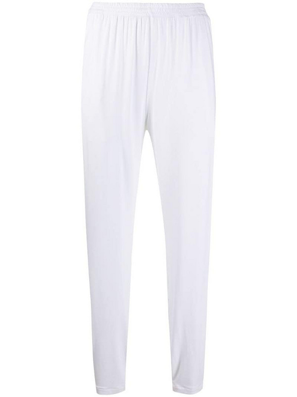 Styland classic track pants in white