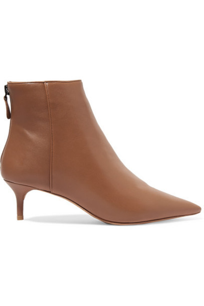 Alexandre Birman - Kittie Leather Ankle Boots - Tan