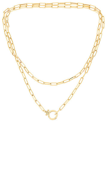 gorjana Parker Wrap Necklace in Metallic Gold