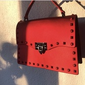 bag,red,leather