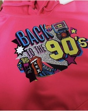 sweater,90s style,hoodie,90's shirt,pink,90s grunge,90's fashion