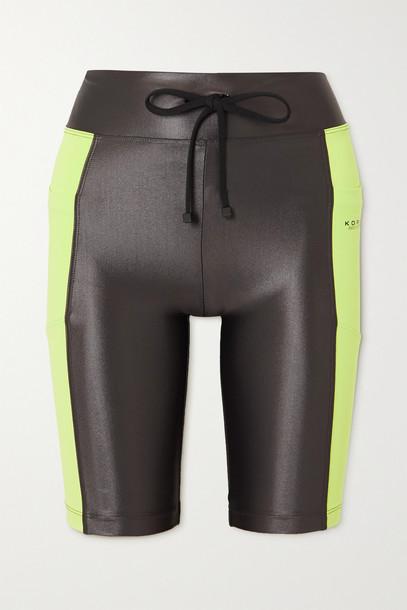 KORAL - Essentia Two-tone Stretch Shorts - Gray