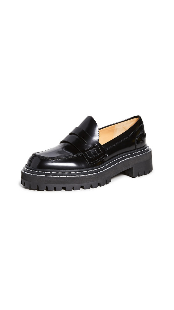 Proenza Schouler Lug Sole Loafers in black