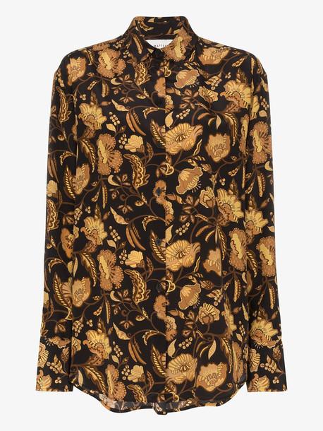 Matteau floral print silk shirt