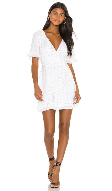 BCBGeneration Wrap Dress in White
