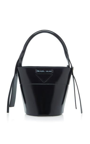Prada Mini Leather Bucket Bag