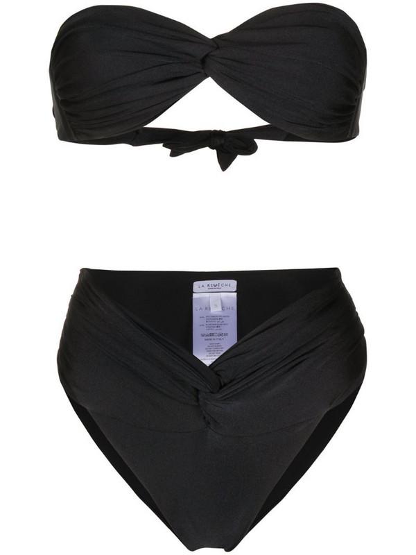 La Reveche twisted bikini set in black