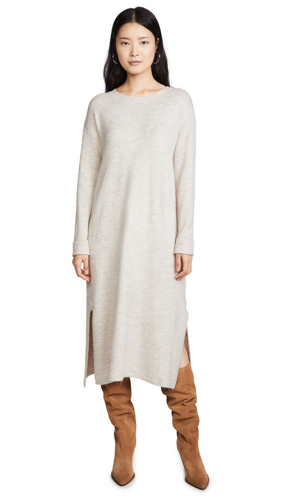 Line & Dot Calli Sweater Dress in taupe