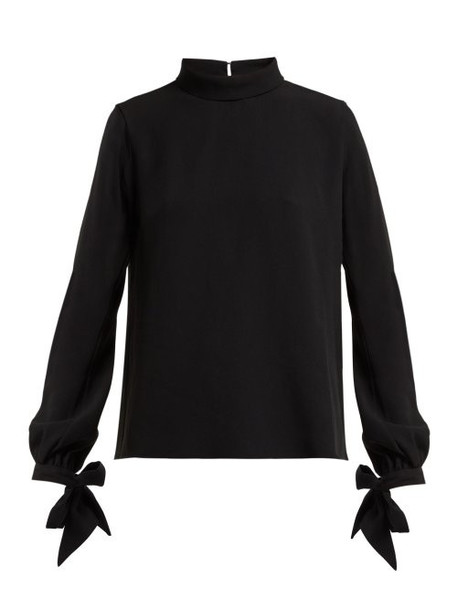 Mary Katrantzou - Fiona Heavy Crepe Blouse - Womens - Black