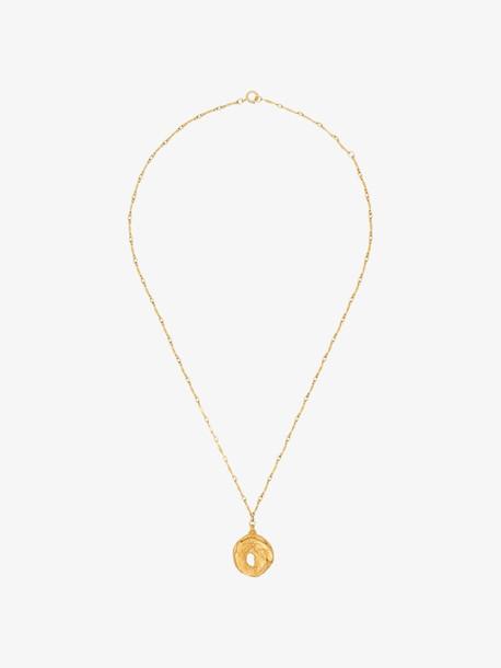 Alighieri 24K gold-plated fragmented bronze pendant
