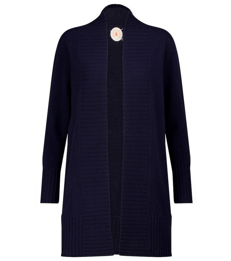 Jardin des Orangers Wool and cashmere cardigan in blue
