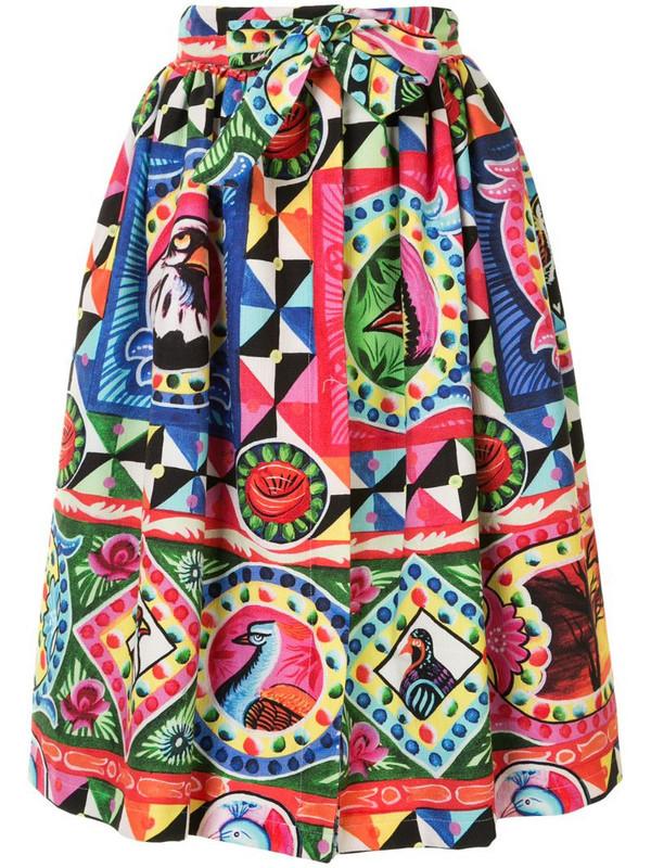 Stella Jean pop art print pleated skirt