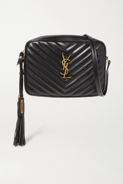 SAINT LAURENT - Lou Medium Quilted Leather Shoulder Bag - Black