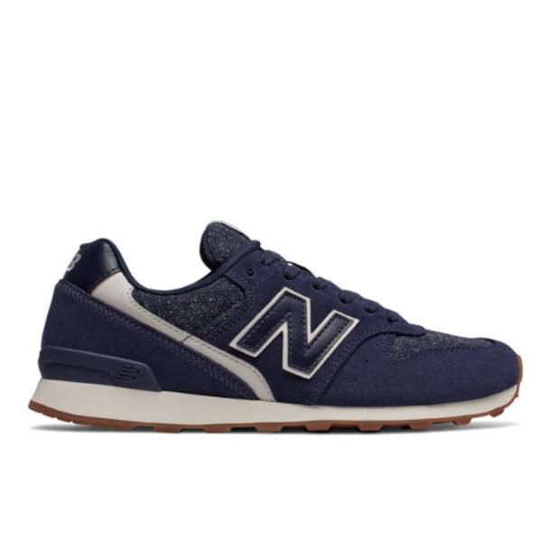 New Balance 696 Women's Running Classics Shoes - Navy/Off White (WL696TC)