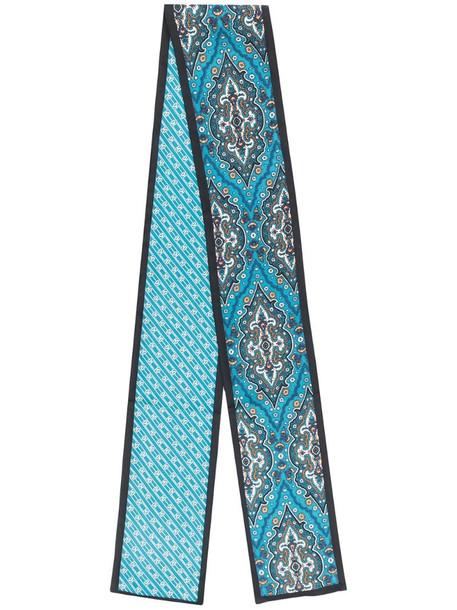 Sandro Paris graphic print scarf in blue
