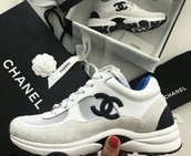 shoes,black,white,chanel,sneakers
