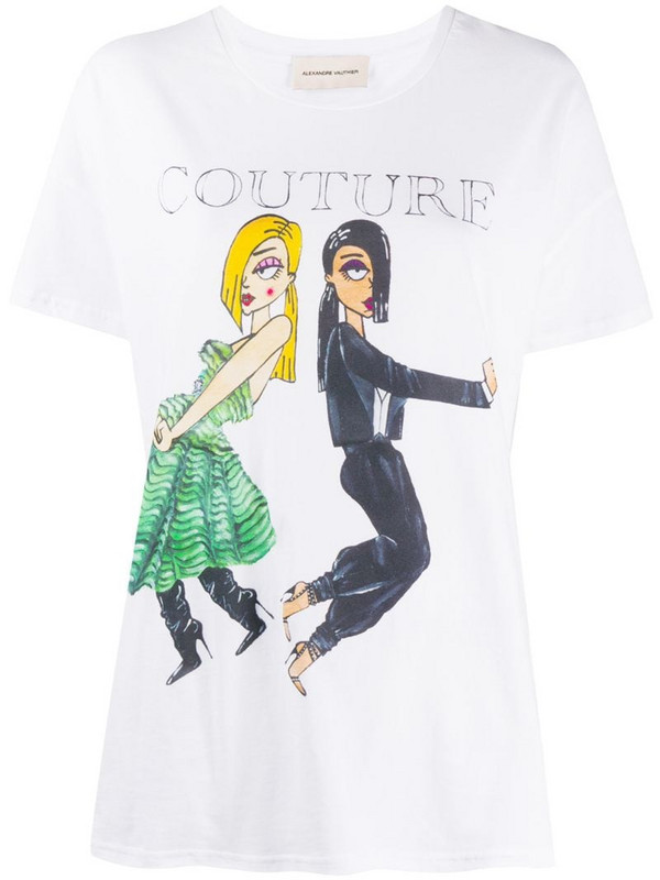 Alexandre Vauthier Dolls graphic print T-shirt in white