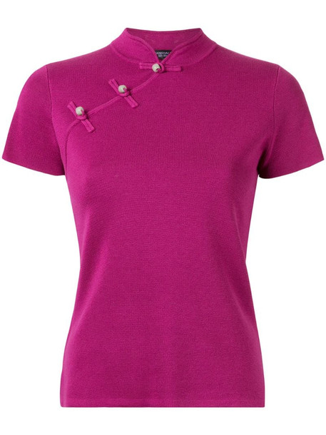Shanghai Tang Jewel button Qipao top in pink