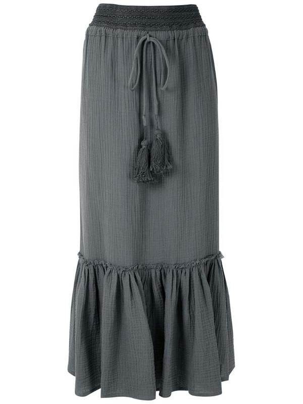 LE SOLEIL D'ETE Drica midi skirt in grey