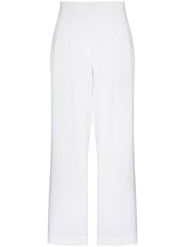 Asceno Rivello wide leg linen trousers in white