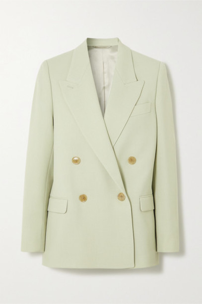 Acne Studios - Janny Double-breasted Woven Blazer - Mint