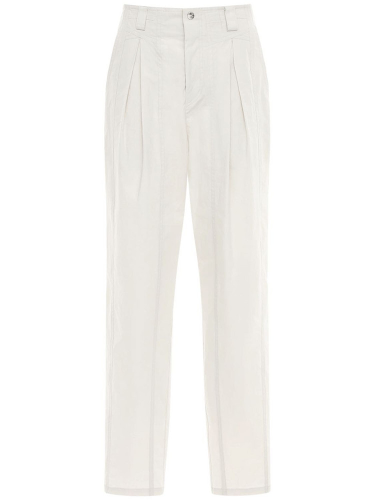 ISABEL MARANT Kilandi High Waist Cotton Poplin Pants