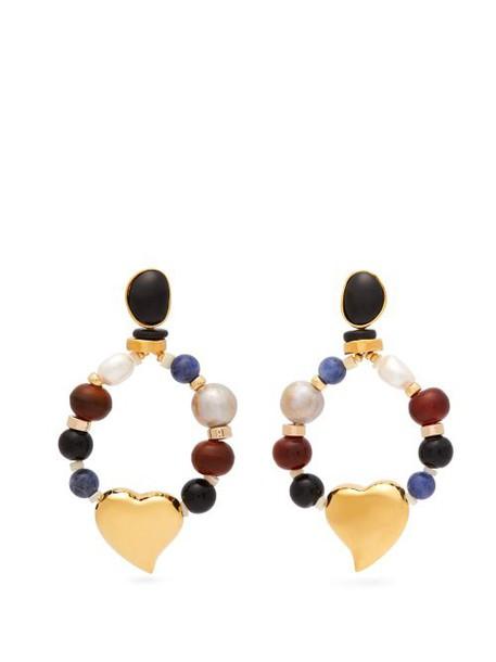 Lizzie Fortunato - Candy Heart Multi Stone Earrings - Womens - Multi