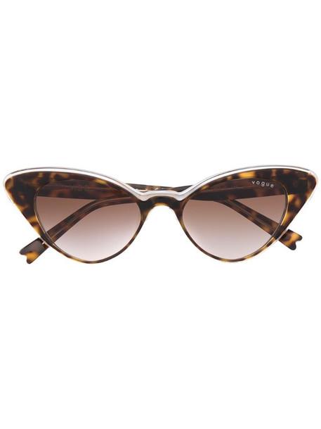 Vogue Eyewear cat-eye tortoieshell sunglasses in brown