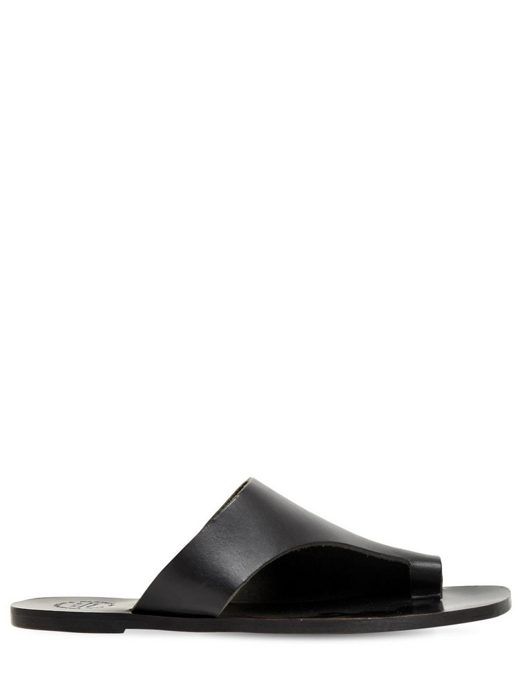 ATP ATELIER 10mm Leather Thong Sandals in black