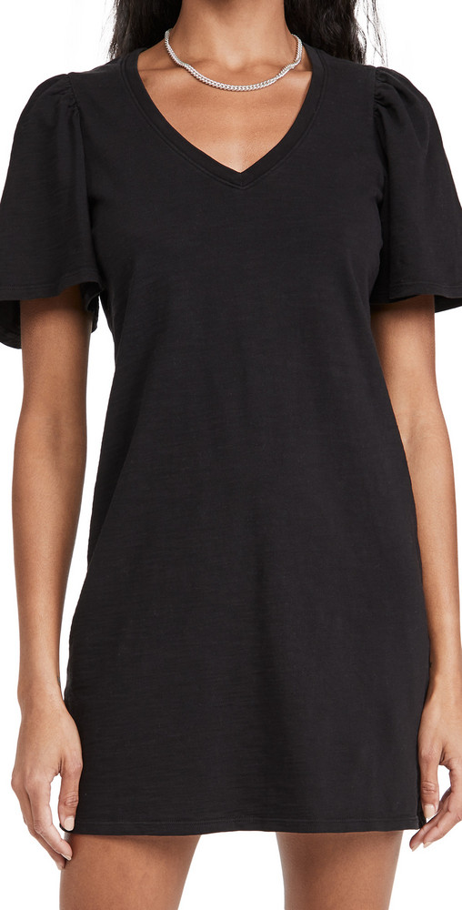 Nation LTD Mallory Flutter Sleeve Dress in black