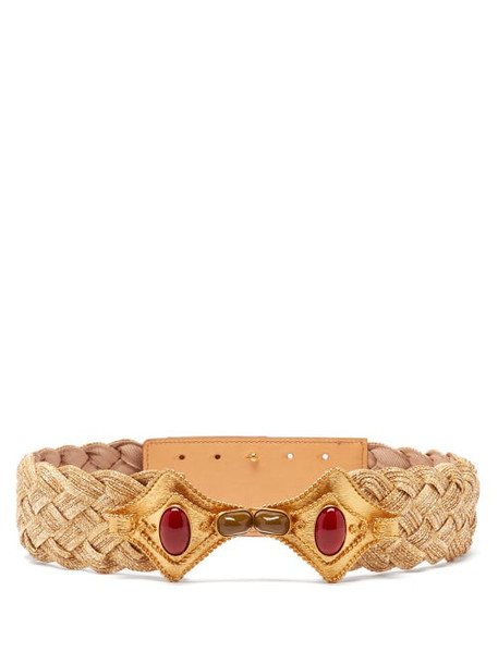 Sonia Petroff - Manta Braided-raffia Belt - Womens - Beige Multi