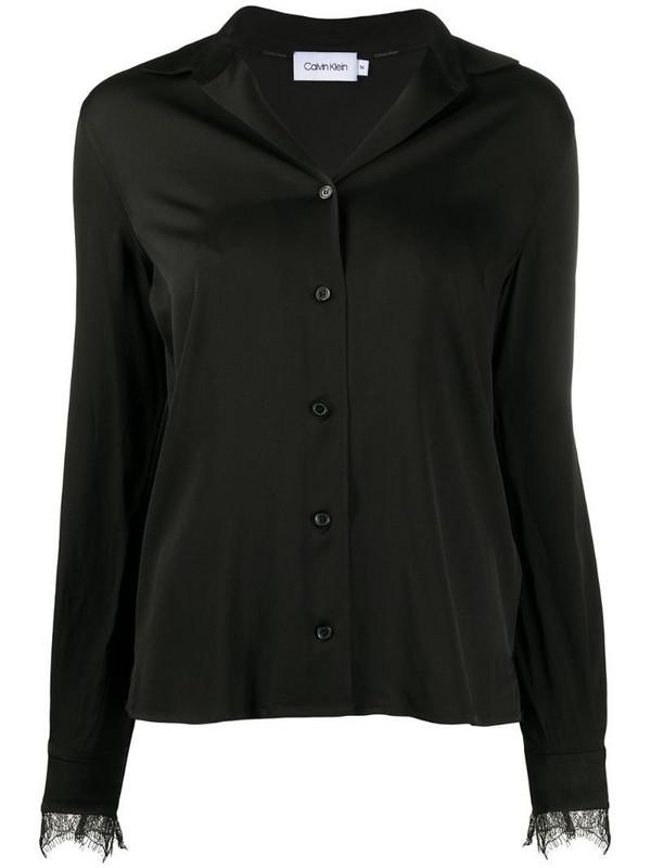 Calvin Klein long sleeve blouse in black