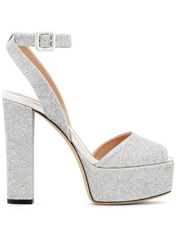 Giuseppe Zanotti Betty Glitter sandals in silver