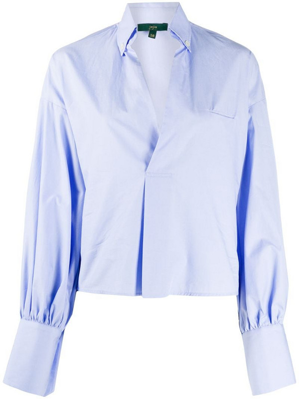 Jejia pull-over long sleeve shirt in blue