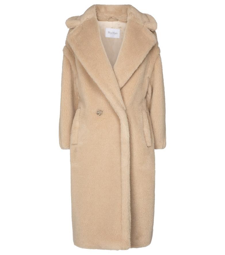 Max Mara Ted camel wool and silk coat in beige