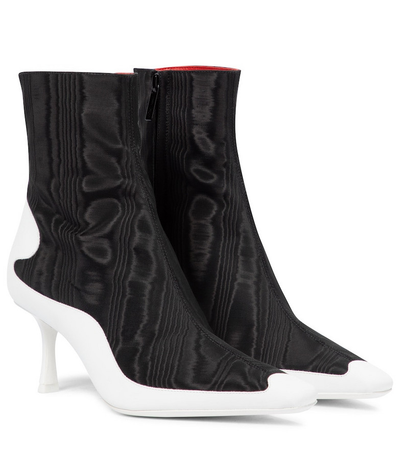 Jimmy Choo Exclusive to Mytheresa – x Marine Serre moiré ankle boots in black