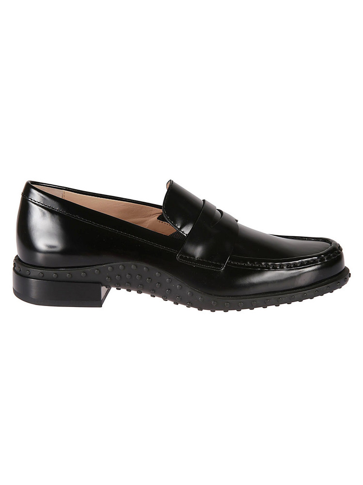 Tods Studded Loafers in black
