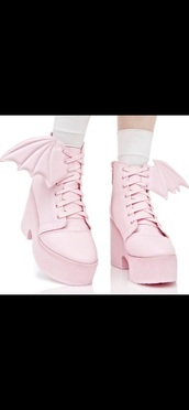 shoes,pink,pastel goth,platform shoes,high heels