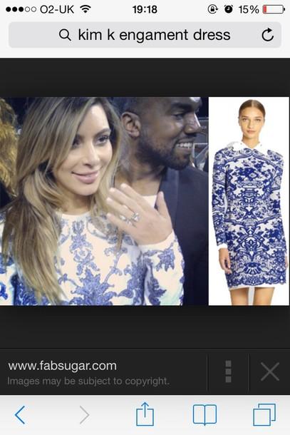 dress kim kardashian engagement dress