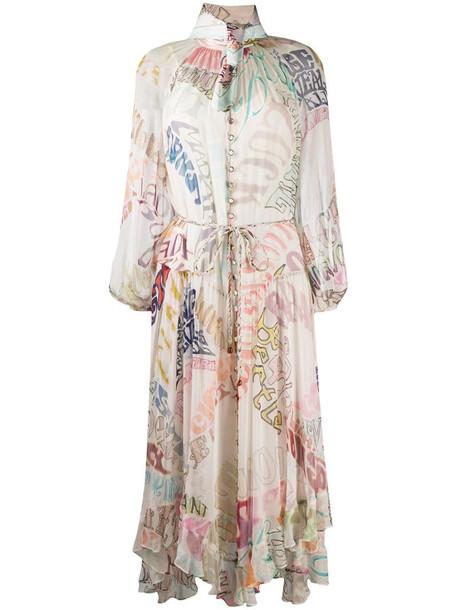 Zimmermann Ladybeetle flared midi dress in white