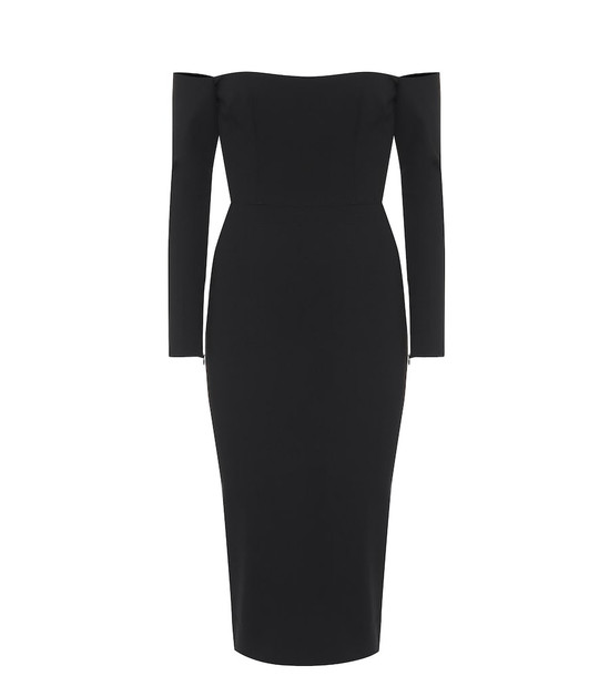Alex Perry Chase over-the-shoulder midi dress in black