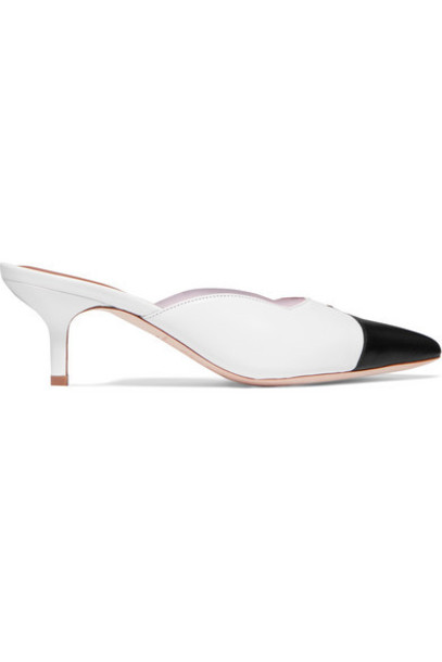 Malone Souliers - Emanuel Ungaro Blake 45 Leather And Pvc Mules - Black