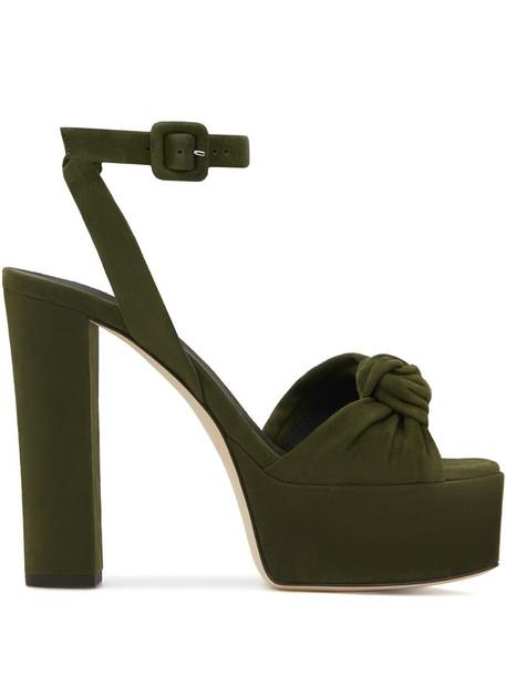 Giuseppe Zanotti Betty Knot 120mm sandals in green
