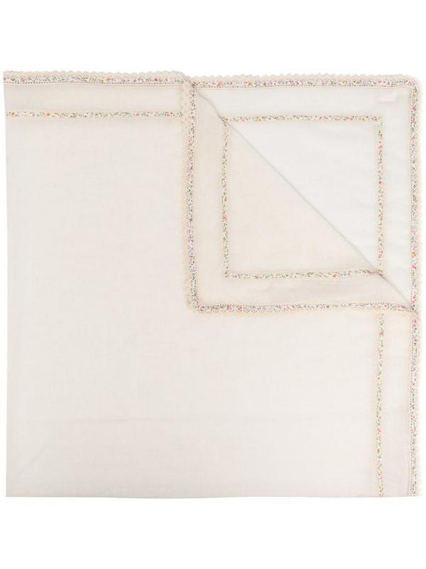 Faliero Sarti lace-trim scarf in neutrals